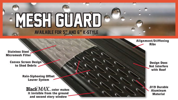 Product Information Seamless Gutters Screen Works
